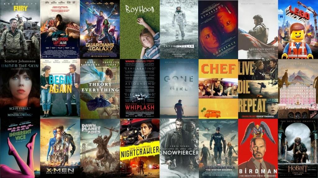 Kolase sejumlah Poster Film yang edar di 2014