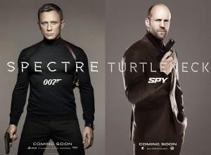 Perbandingan poster film Spectre (James Bond 007)  dan Spy