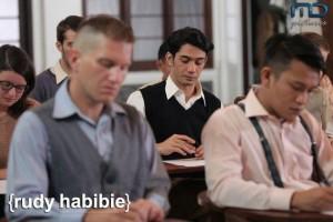 Rudy Habibie sedang mengikuti ujian masuk RWTH (Foto: MD Pictures)